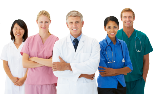 group of medical professionals smiling